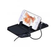 Автодержатель для телефона Hoco Vehicle charging Holder CA1 (коврик с ЗУ) черный