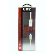 USB-кабель Lightning EMY MY-444 плоский белый, 1 м