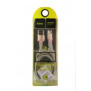 USB-кабель Lightning Hoco U5, металлический, розовое золото
