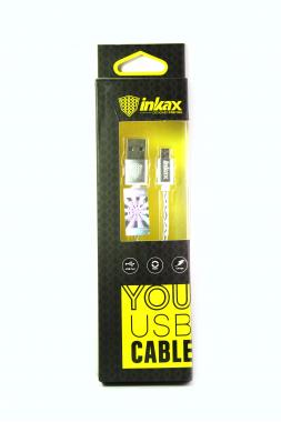 Кабель micro USB вилка Inkax CK-05, 1м