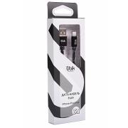 Кабель Lightning для iPhone Ubik UL09, нейлоновая обмотка,  черный