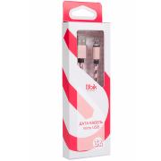 Кабель micro USB Ubik UM07, нейлоновая обмотка, розовый
