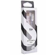 Кабель Lightning для iPhone Ubik UPL10, металлический,  серебряный