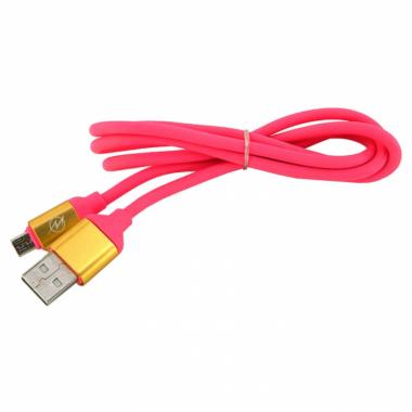 Кабель micro USB  Walker C530 розовый, 1м