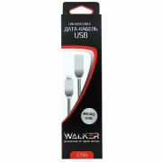Кабель micro USB  Walker C730 серебрянный, 1м
