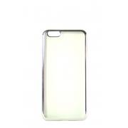 Прозрачный силиконовый чехол с серебряным бампером для iPhone 5