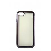 Прозрачный силиконовый чехол с черным бампером для iPhone 7
