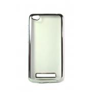 Прозрачный силиконовый чехол с серебряным бампером для Xiaomi Redmi 4A
