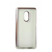 Прозрачный силиконовый чехол с серебряным бампером для Xiaomi Redmi Note 4