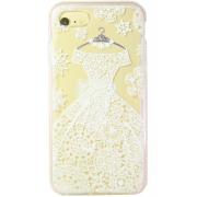 Силиконовый чехол Face idea для iPhone 7 Белое кружевное платье