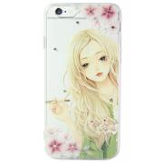 Силиконовый чехол NXE для iPhone 5/5s Девушка в зеленом