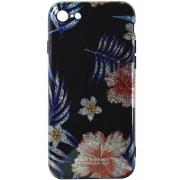 Силиконовый чехол Santa Barbara для iPhone 7 Тропические цветы с блестками