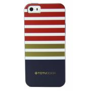 Силиконовый чехол Totu для iPhone 5/5s рисунок в полоску