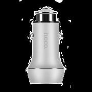Автомобильная зарядка Hoco Z7 2.4A  + 2 USB серебряная