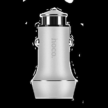 АЗУ Hoco Z7 2.4A  + 2 USB серебряная