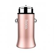 Автомобильная зарядка Hoco Z8 2.4A,  розовый перламутр