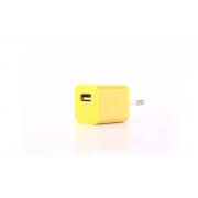 Сетевое зарядное устройство для iPhone 1USB желтый