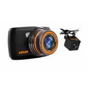 Видеорегистратор Каркам D2, Компактный Full HD видеорегистратор с камерой заднего вида