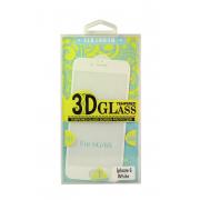 Защитное стекло белое для iPhone 6/6s 3D Colorfull