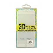 Защитное стекло белое для iPhone 6+/6s+ 5D Colorfull