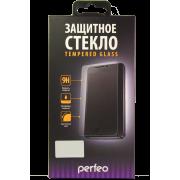 Защитное матовое стекло с белой рамкой для iPhone 7+ 0.2 мм 3D Perfeo (121)