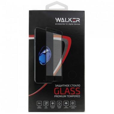 Защитное стекло с белой рамкой 5D для iPhone 7+ Walker