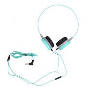 MP3 наушники Hoco W3 Headset зеленые с микрофоном