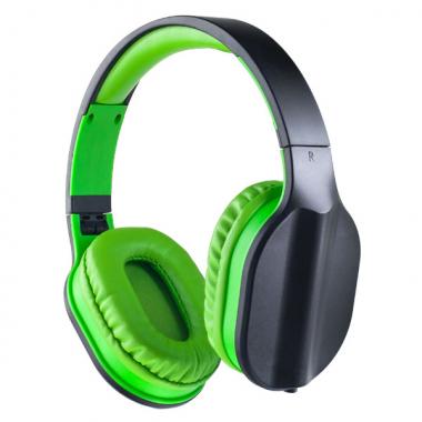 Компьютерная гарнитура Perfeo DUAL черная с микрофоном, цвет черно-зеленый
