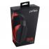 Компьютерная гарнитура Perfeo DUAL черная с микрофоном, цвет черно-красный