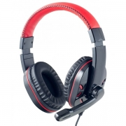 Компьютерная гарнитура Perfeo «SWAT» черно-красная с микрофоном
