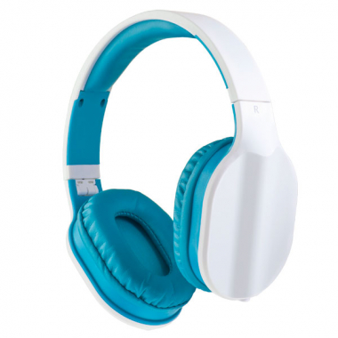 Компьютерная гарнитура Perfeo DUAL черная с микрофоном, бело-голубой