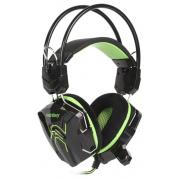 Компьютерная гарнитура SmartBuy RUSH SNAKE черно-зеленые с микрофоном
