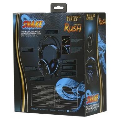 Компьютерная гарнитура SmartBuy RUSH SNAKE черно-синие с микрофоном