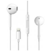 Наушники Hoco L3 вкладыши белые с микрофоном для iPhone 7