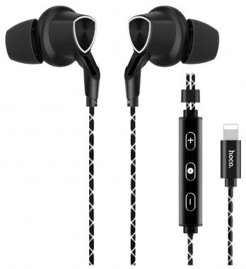 Наушники Hoco L4 Digital sporting lighting earphone вставные черные с микрофоном для iPhone 7