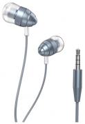 Наушники Hoco M5 Control вставные (затычки) с микрофоном, серые