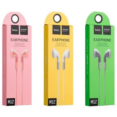 Наушники Hoco M12 вкладыши серые с микрофоном и кнопкой ответа