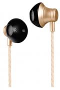 Наушники Hoco M18 Gesi metallic universal earphone вкладыши с микрофоном, цвет бронза