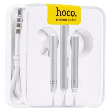 Наушники Hoco M22 вкладыши белые с микрофоном