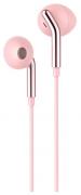 Наушники Hoco M25 Your meaning вкладыши розовое золото с микрофоном