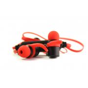 Наушники блютуз Joyroom Q10 Soft touch гарнитура (с микрофоном и кнопкой ответа) черно-красные