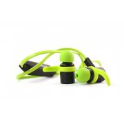 Наушники блютуз Joyroom Q10 Soft touch гарнитура (с микрофоном и кнопкой ответа) черно-зеленые