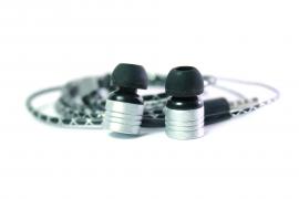 Наушники Walker H320 гарнитура серебряные (с микрофоном и кнопкой ответа)