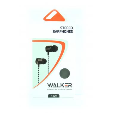 Наушники Walker H320 гарнитура темно-серые (с микрофоном и кнопкой ответа)
