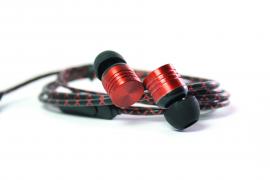 Наушники Walker H320 гарнитура красные (с микрофоном и кнопкой ответа)