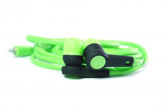 Наушники Walker H330 Soft touch гарнитура зеленые (с микрофоном и кнопкой ответа)