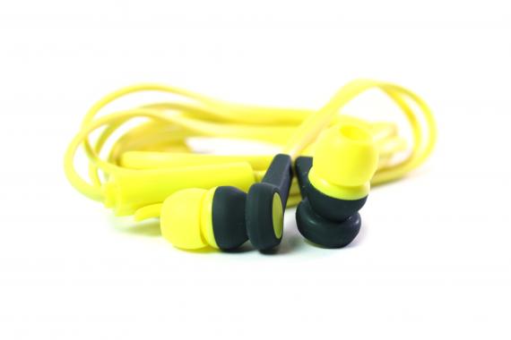 Наушники Walker H330 Soft touch гарнитура желтые (с микрофоном и кнопкой ответа)