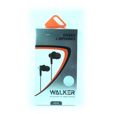 Наушники Walker H510 гарнитура серебряные (с микрофоном и кнопкой ответа)