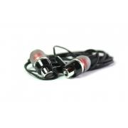 Наушники Walker H520 гарнитура черные (с микрофоном и кнопкой ответа) матерчатый провод, угловой разъем