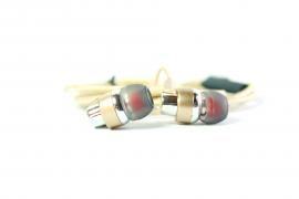 Наушники Walker H520 гарнитура золотые (с микрофоном и кнопкой ответа) матерчатый провод, угловой разъем